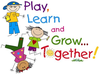 Play Learn Grow Together Clipart Image