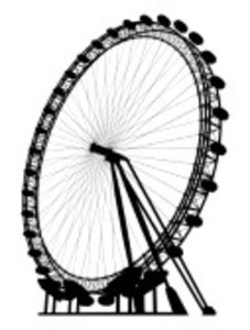 The London Eye Silhouette Image