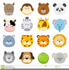 Jungle Baby Animals Clipart Image