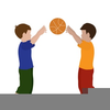 Boy Playing Basketball Clipart Image