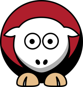 Sheep 4 Toned San Francisco 49ers Team Colors Clip Art