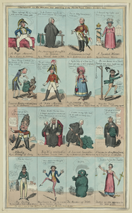 Characters In The New Piece Now Poforming [sic] At The Theatre Royal Cotten Garden 1820 Image