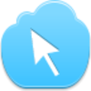 Free Blue Cloud Cursor Arrow Image