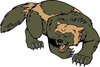 Free Wolverine Mascot Clipart Image