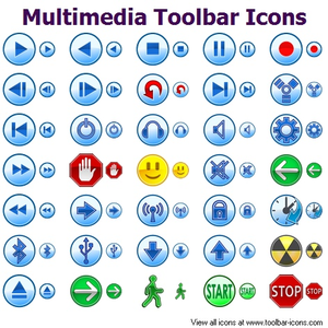 Multimedia Toolbar Icons Image