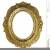 Oval Victorian Frame Clipart Image