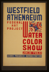 Westfield Athenaeum - Federal Art Project Water Color Show Image