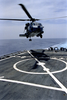 Sh-60 Seahawk Conducts Deck Landing Qualifications Image