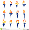Olympic Torch Relay Clipart Image
