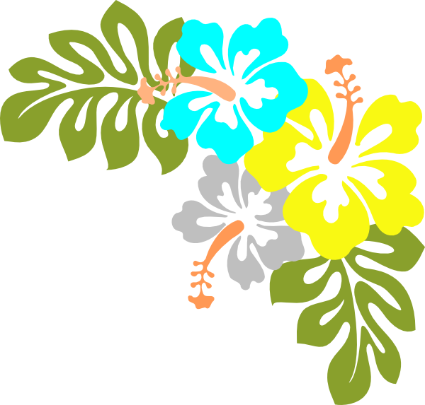 hibiscus hawaii flower clip art at clker  vector clip art, Beautiful flower