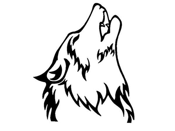howling wolf clipart free images at clker com vector clip art rh clker com howling wolf images clip art howling wolf pictures clip art