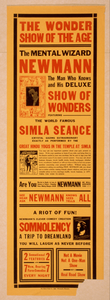 The Mental Wizard, Newmann Th Man Who Knows And His Deluxe Show Of Wonders : Featuring The World Famous Simla Seance. Image