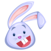 Blue Rabbit Icon Image