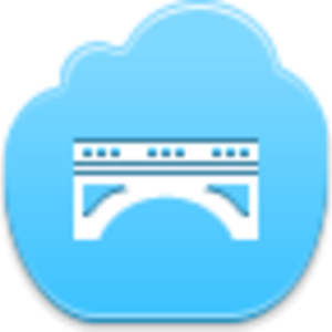 Free Blue Cloud Bridge Image