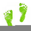Free Clipart Of Baby Footprint Image