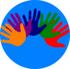 Volunteering Hands - Various Colors Clip Art