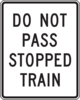 Do Not Pass Stopped Train Clip Art