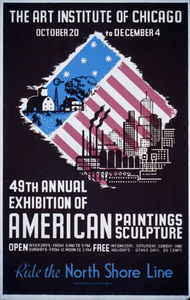 49th Annual Exhibition Of American Paintings Sculpture Ride The North Shore Line / M. Waltrip. Image