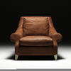 Designer Leather Armchair Image
