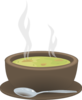 Hot Steaming Bowl Of Soup Clip Art