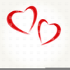 Two Hearts Clipart Free Image