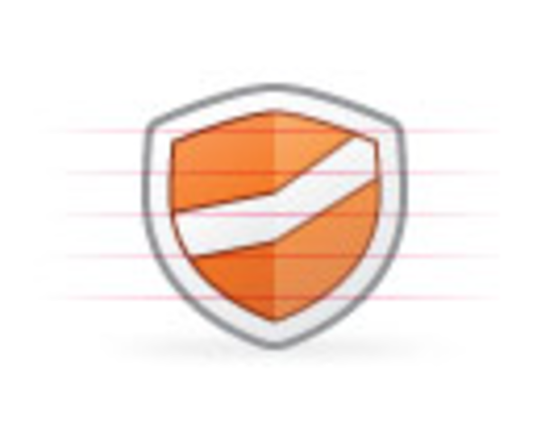 Origami Security Orange | Free Images at Clker com - vector