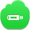 Free Green Cloud Flash Drive Image
