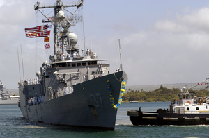 The Guided Missile Frigate Uss Crommelin (ffg 37) Returns To Her Home Port After A Six-month Deployment In The U.s. Naval Forces Southern Command Area Of Responsibility (aor) Image
