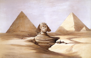 The Great Sphinx Pyramids Of Gizeh By David Roberts Ra Image