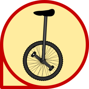 Unicycle Icon Clip Art