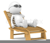 Person Relaxing Clipart Image