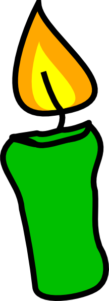 Green Candle Clip Art At Clker Com Vector Clip Art