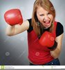 Girls Boxing Clipart Image