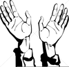 Hands Lifted In Worship Clipart Image