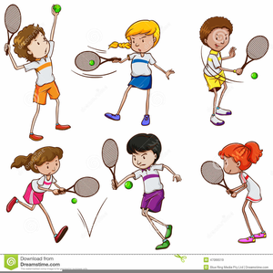 Girl Playing Tennis Clipart Free Images At Clker Com Vector Clip Art Online Royalty Free Public Domain