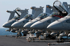Five F/a-18c Hornets Assigned To Strike Fighter Squadron Twenty Five (vfa 25) And Armed With Aim-7  Sparrow   Air-to-air Missiles. Image