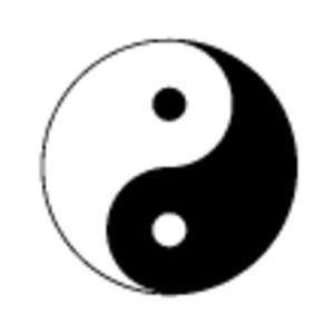depositphotos yin yang symbol free images at clker com vector rh clker com Cool Yin Yang Drawings yin yang symbol vector art