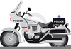 Police Motorcycle Clipart Image