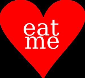 Eat Me Heart Clip Art at Clker.com - vector clip art online, royalty ...