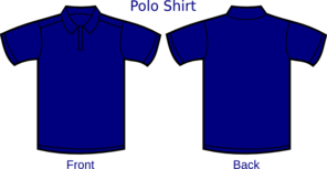 Dark Blue Polo Shirt Clip Art