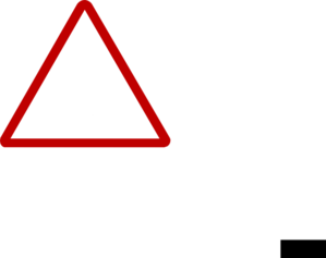 Thin Red Warning Sign Clip Art
