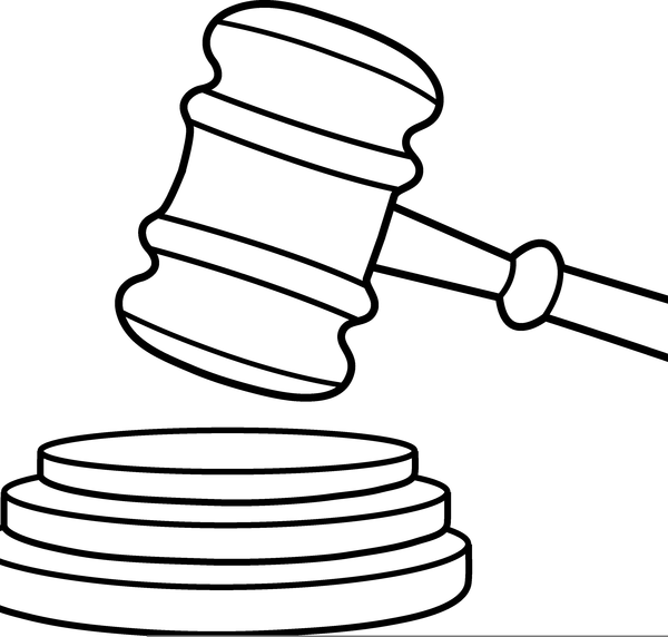 Gavel Clipart Black And White | Free Images at Clker.com ...