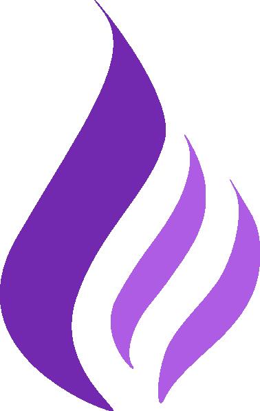 Purple Flame Lo... J Logo Fire