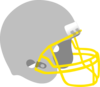Football Helmet Gray Gold Clip Art