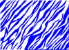 Blue And White Zebra Print Background Clip Art