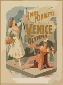 Imre Kiralfy S Superb Representation Of Venice At Olympia Clip Art