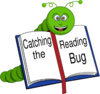 Catching The Reading Bug Clip Art