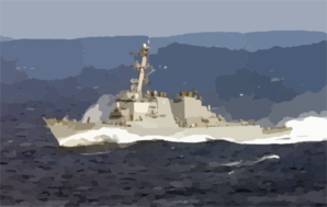The Guided Missile Destroyer Uss Donald Cook (ddg 75) Underway Conducting Missions In Support Of Operation Enduring Freedom. Clip Art