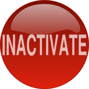 Red Inactivate Button Clip Art