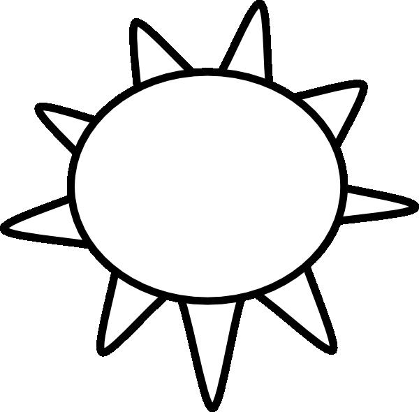 sun outline clip art at clker com vector clip art online royalty rh clker com sun clipart images black and white sun rays clipart black and white